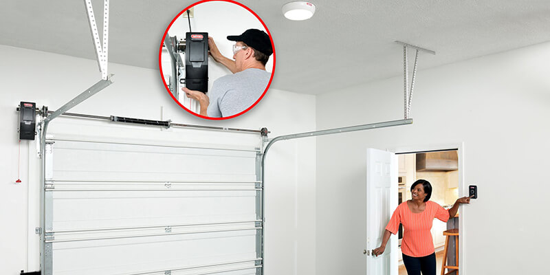 garage door opener mounted on side - Supreme Garage Door Repair